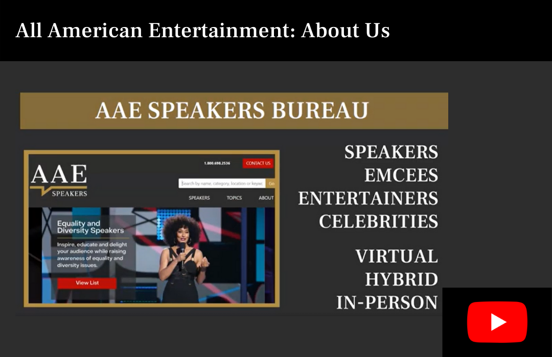 About All American Entertainment Speakers Bureau